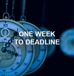 One Week to Deadline