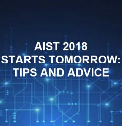 AIST 2018 starts tomorrow: tips and advice